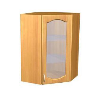 Шкаф навесной угловой для кухни П 45/1 - фото №1