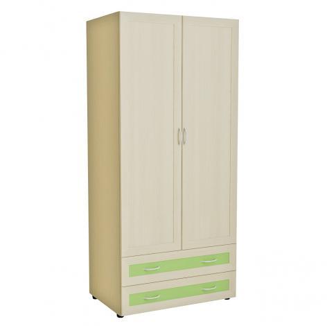 Шкаф для одежды с 2 ящиками Радуга 5.14 - фото №1