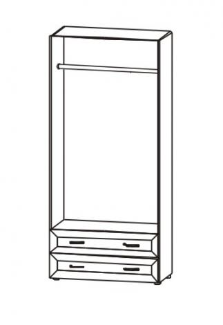 Шкаф для одежды с 2 ящиками Радуга 5.14 - фото №2