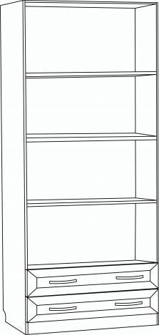 Шкаф для белья 2-х дверный с 2-мя ящиками с зеркалами С 203/1 М - фото №2