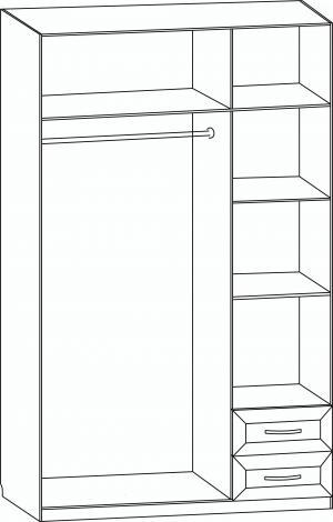 Шкаф 3-х дверный с 2-мя ящиками с 285 М - фото №2