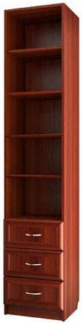 Шкаф для книг узкий с 3-мя ящиками С 415 М - фото №1