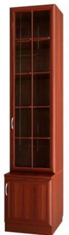 Шкаф для книг узкий со стеклянной дверью С 464 М - фото №1