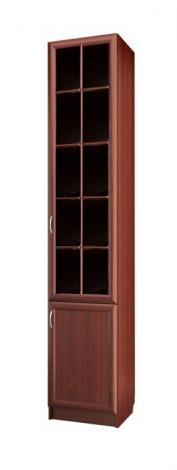 Шкаф для книг узкий со стеклянной дверью С 410 М - фото №1