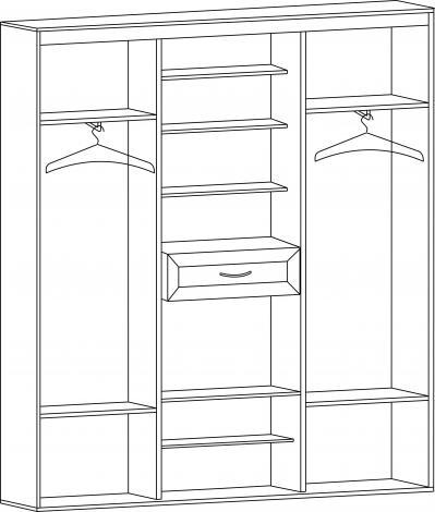 Шкаф-купе для прихожей с зеркалами ШК-02 - фото №2