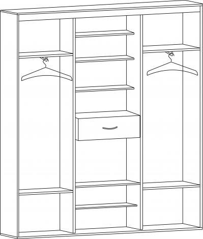 Шкаф-купе с 2-мя зеркальными дверьми ШК-02л - фото №2
