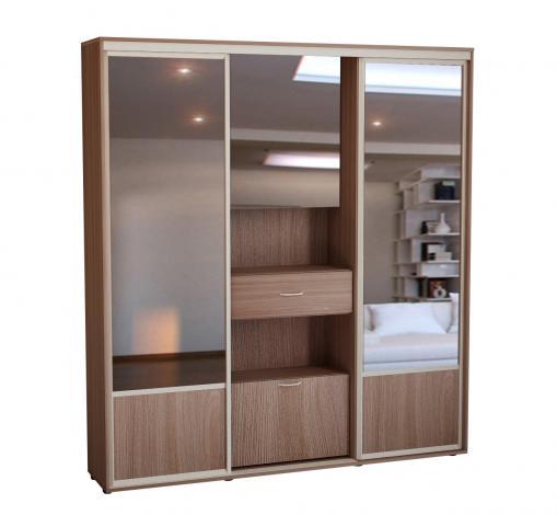 Шкаф-купе с 2-мя зеркальными дверьми ШК-02л - фото №1