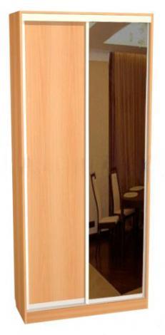 Шкаф - купе двухдверный с зеркальной дверью С 42.12.01 - фото №1