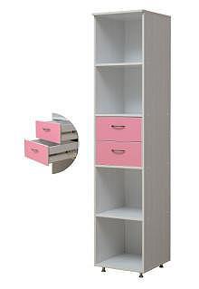 Шкаф-пенал открытый с 2-мя ящиками «Алиса-2» - фото №2