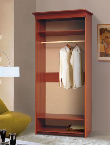 Шкаф-купе 2-х дверный платяной с зеркалом - фото №2
