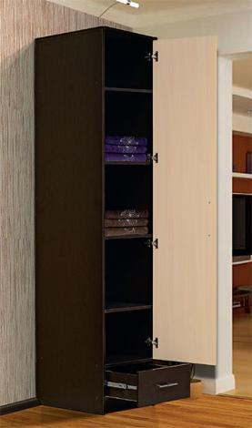 Шкаф - пенал с нижним ящиком - фото №8