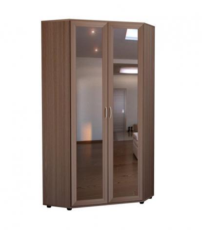 Шкаф угловой 2-х дверный с зеркалами ШУ-63 - фото №1