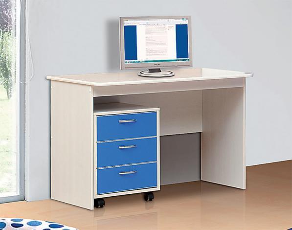 Стол письменный - 04 + Тумба выкатная от набора детской мебели «Алиса-2» - фото №1