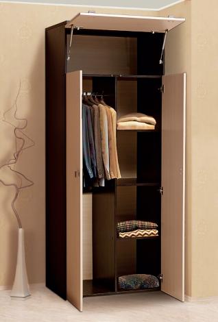 Распашной шкаф 2-х дверный для платья и белья «Тандем» Т/ШПБ2-800/2 - фото №1