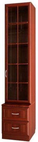 Шкаф для книг узкий со стеклянной дверью С 465 М - фото №1